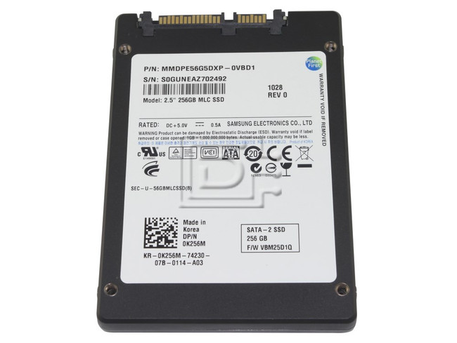 SAMSUNG MMDPE56G5DXP-0VB MMDPE56G5DXP-0VBD1 K256M 0K256M KR-0K256M-01851-02R-0445-A02 Laptop SATA Flash SSD Solid State Drive image 1