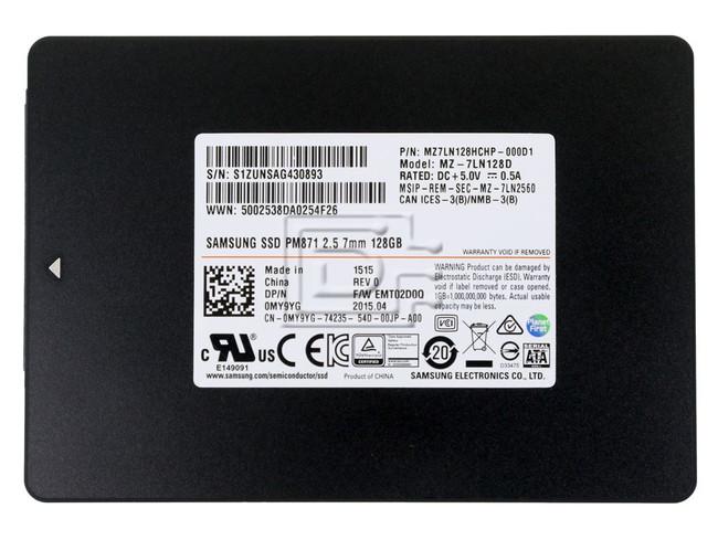 SAMSUNG MZ7LN128HCHP-000D1 MZ-7LN128D MY9YG 0MY9YG SATA SSD 128GB image 2
