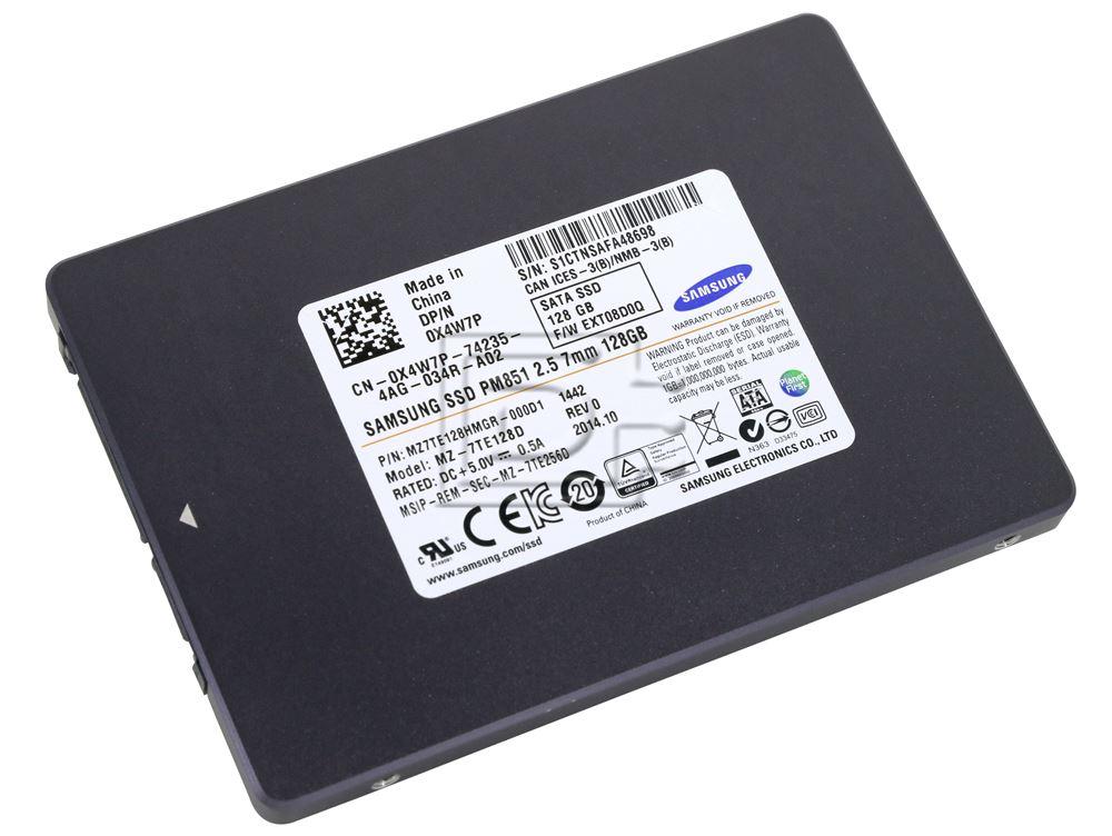 SAMSUNG MZ7TE128HMGR-111D1 MZ-7TE128D X4W7P 0X4W7P SATA SSD 128GB image 1