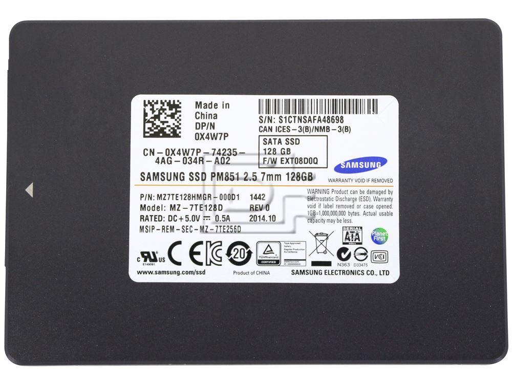 SAMSUNG MZ7TE128HMGR-111D1 MZ-7TE128D X4W7P 0X4W7P SATA SSD 128GB image 2