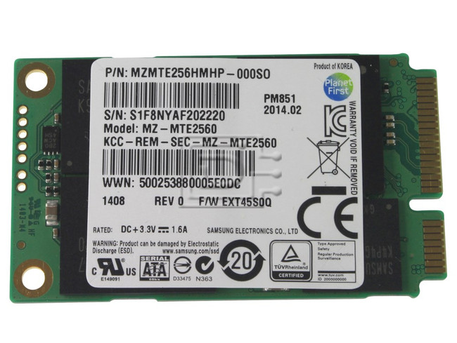 SAMSUNG MZMTE256HMHP MZMTE256HMHP-00000 SATA mSATA SSD image 1