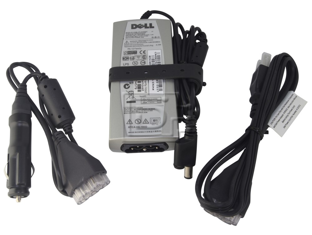 Dell PA-12 310-4804 928G4 N6M8J TJ76K KT2MG HF272 0HF272 Dell PA-12 Auto-Air Laptop Power Adapter image 1