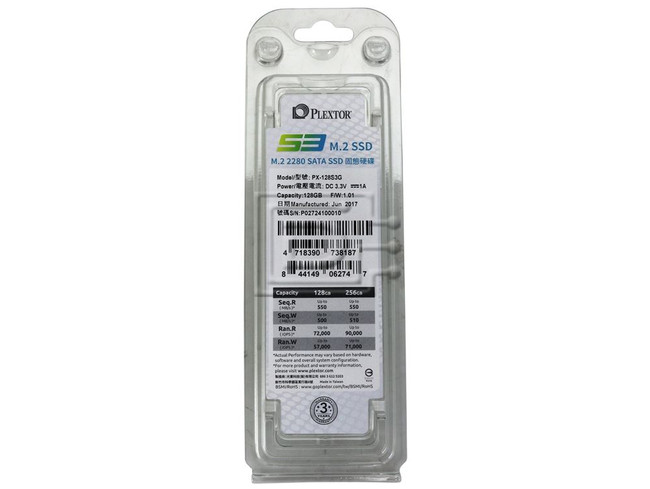 Plextor PX-128S3G M.2 2280 Solid State Drive image 3