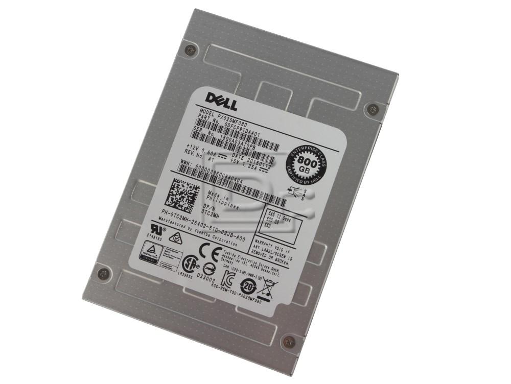 Toshiba PX02SMF080 0TC2MH TC2MH eMLC Enterprise SAS SSD Solid State Drive image 1