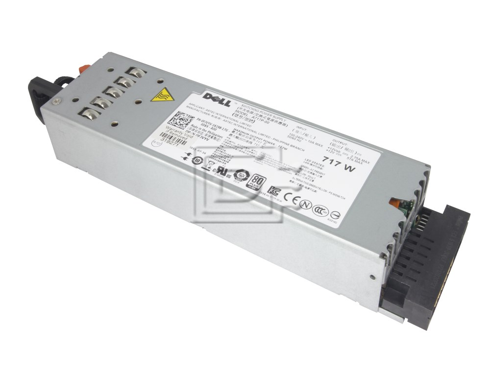 Dell RN442 FJVYV A717P-00 PowerEdge R610 717W Power Supply image 2