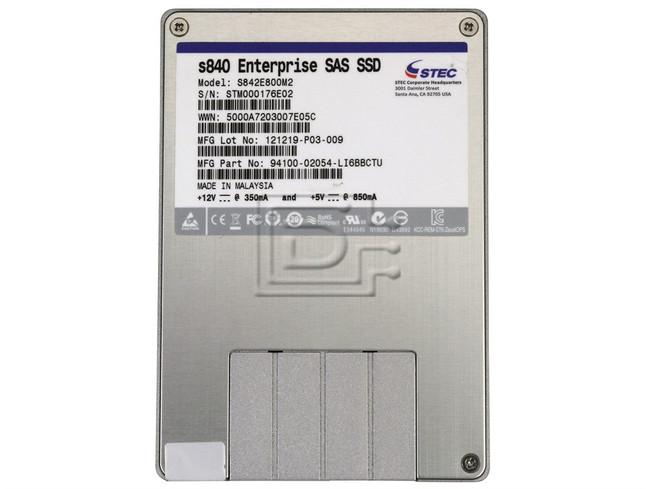 sTec S842E800M2 94100-02054-LI6BBCTU sTec 800GB SAS SSD Drive image 2