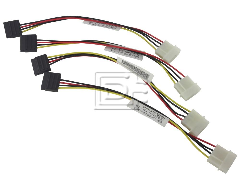 LSI Logic CAB-SAS-INT-8087-8482-4C-MOLEX-BN-OE ACK-I-mSASx4-SAS4x1-FO-1m CBL-SAS8087OCF-06M 2232000-R Internal SAS Cable image 4