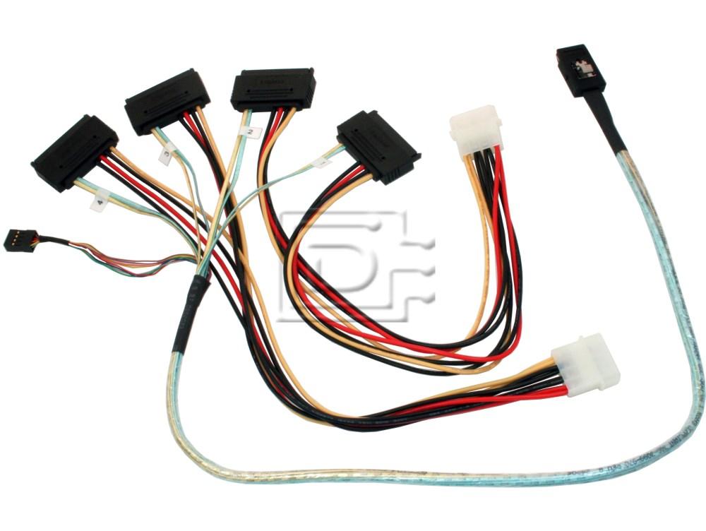 LSI Logic CAB-SAS-INT-8087-8482-4C-BN-OE ACK-I-mSASx4-SAS4x1-FO-1m CBL-SAS8087OCF-06M 2232000-R Internal SAS Cable image 1