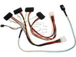 LSI Logic CAB-SAS-INT-8087-8482-4C-BN-OE ACK-I-mSASx4-SAS4x1-FO-1m CBL-SAS8087OCF-06M 2232000-R Internal SAS Cable