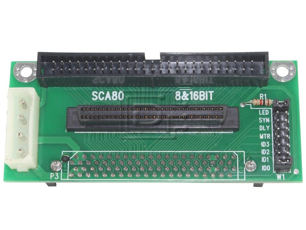 Amphenol CAB-SCSI-INT-80p-68p-50p-BN-OE Universal SCSI Adapter image 1