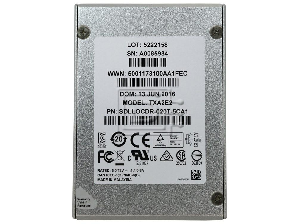 Sandisk Optimus TXA2E2 2.5 SAS 2TB Server SSD Solid State Drive