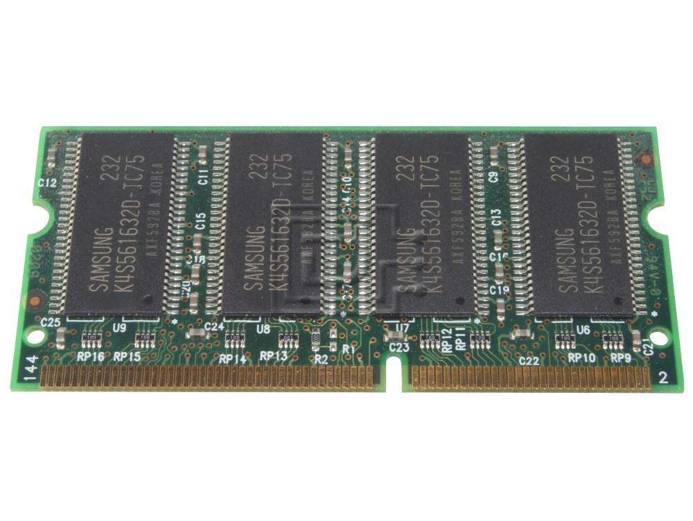 Crucial RAM-SODIMM-256MB-UP-OE MT8LSDT3264HG-133B1 PC133S-33-542 HYM72V32M636BT6-H M464S3254DTS-L7A NT256S64VH8A0GM-75B MT8LSDT3264HG KT864GY-SAD75 256MB RAM SODIMM Module image 2