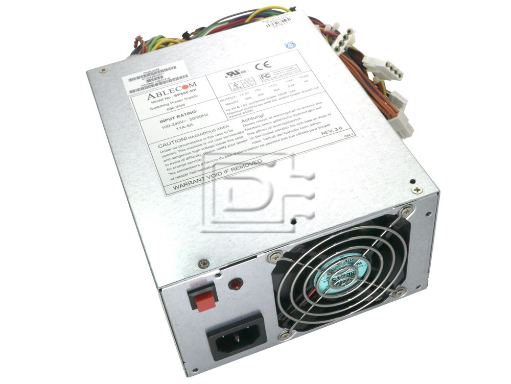 NEW Ablecom SP650-RP 650 Watt Switching Power Supply 100-240V 50//60Hz 11A-5A
