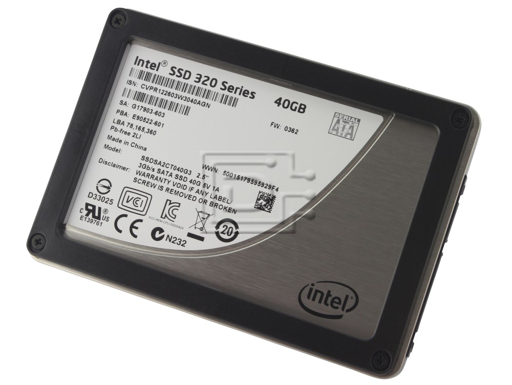 INTEL SSDSA2CT040G310 SSDSA2CT040G301 SSDSA2CT040G3 INTELSSDSA2CT04 SATA SSD image 1