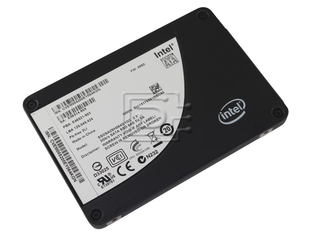 "INTEL SSDSA2SH064G101 SSDSA2SH064G1GC SATA 2.5"" SSD Solid State Hard Drive image 1"