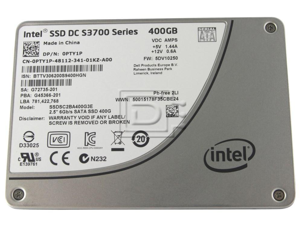 "INTEL SSDSC2BA400G3 524F4 SSDSC2BA400G3T SSDSC2BA400G3E 6XJ05 06XJ05 0PTY1P PTY1P SSDSC2BA400G SSDSC2BA400G301 SSDSC2BA400G3 SATA 2.5"" SSD Solid State Hard Drive image 1"