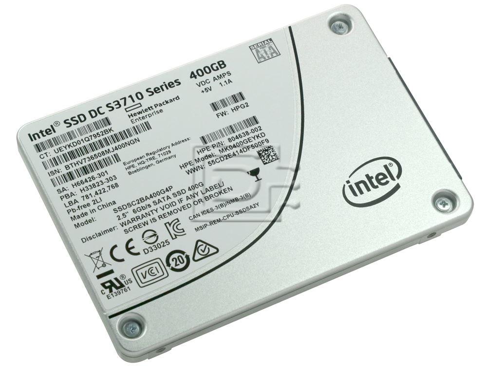 INTEL SSDSC2BA400G4P 804638-002 SSDSC2BA400G4 SSDSC2BA400G4P1 SSDSC2BA400G4-HPE SSDSC2BA400G401-HPE SATA Solid State Drive image 1