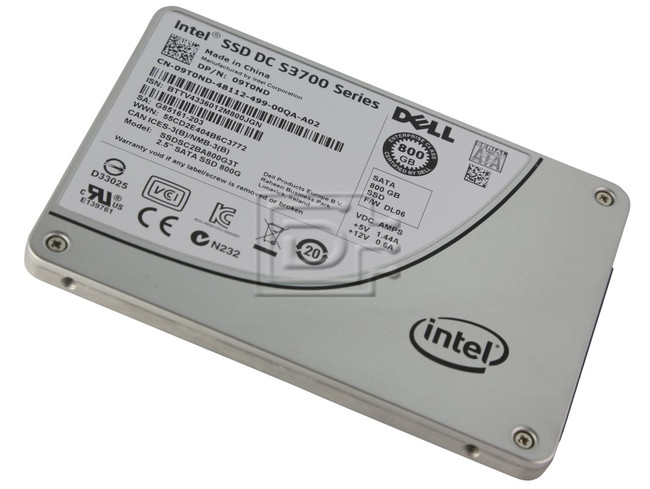 "INTEL SSDSC2BA800G3T SSDSC2BA800G3 SSDSC2BA800G301 09T0ND 9T0ND SATA 2.5"" SSD Solid State Hard Drive image 1"