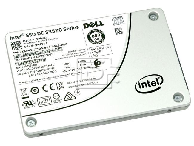 INTEL SSDSC2BB800G7R K49V9 0K49V9 SSDSC2BB800G701 SSDSC2BB800G7 800GB SSD INTEL image 1