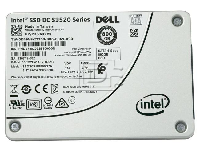 INTEL SSDSC2BB800G7R K49V9 0K49V9 SSDSC2BB800G701 SSDSC2BB800G7 800GB SSD INTEL image 2