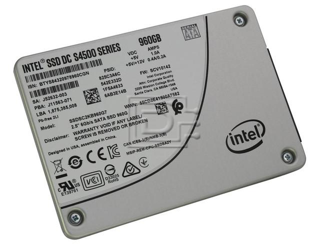 INTEL SSDSC2KB960G701 SSDSC2KB960G7 J52632-000 S4500 SATA Solid State Drive image 1