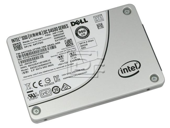 INTEL SSDSC2KB960G7R 4T7DD 04T7DD T50K8 0T50K8 960GB 2.5 SSD SATA image 1