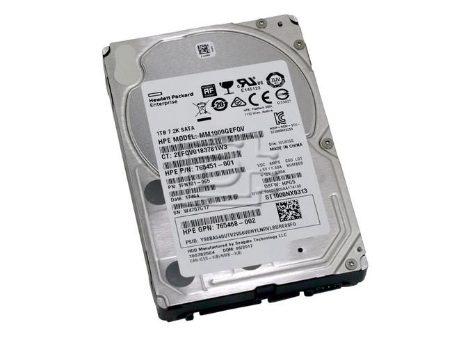 HEWLETT PACKARD 765451-001 765468-002 MM1000GEFQV SATA Hard Drive image 1