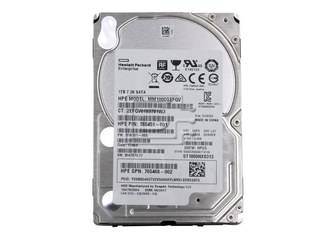 HEWLETT PACKARD 765451-001 765468-002 MM1000GEFQV SATA Hard Drive image 2