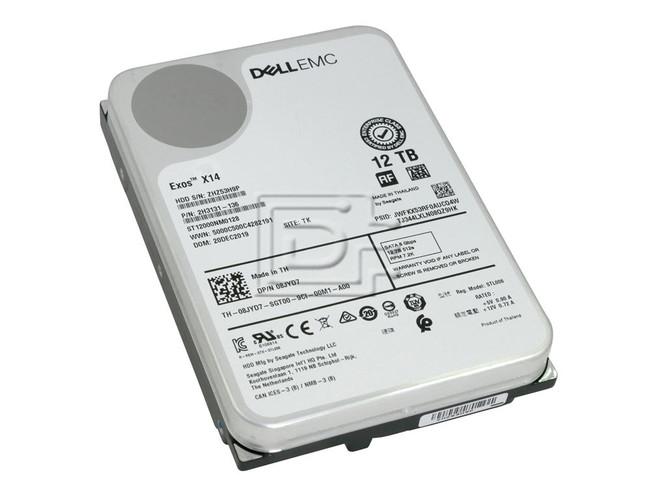 Seagate ST12000NM0128 8JYD7 753F0 T2YHT KVW2X 08JYD7 0753F0 0T2YHT 0KVW2X SATA Hard drive image 1