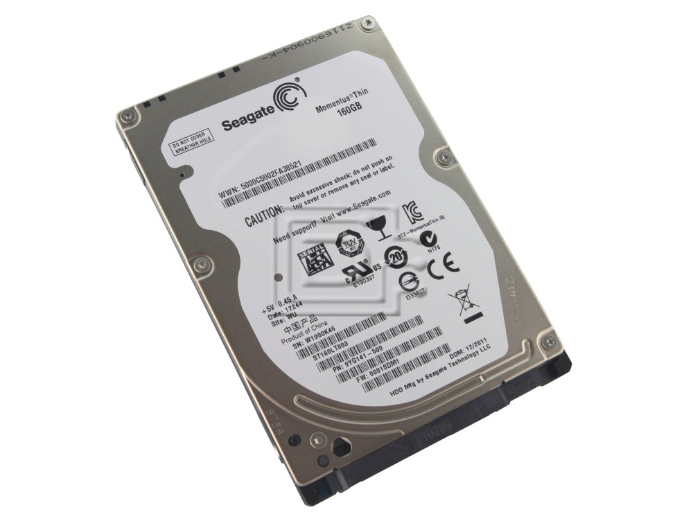 "Seagate ST160LT003 9YG141-500 Laptop 2.5"" SATA Hard Drives image 1"