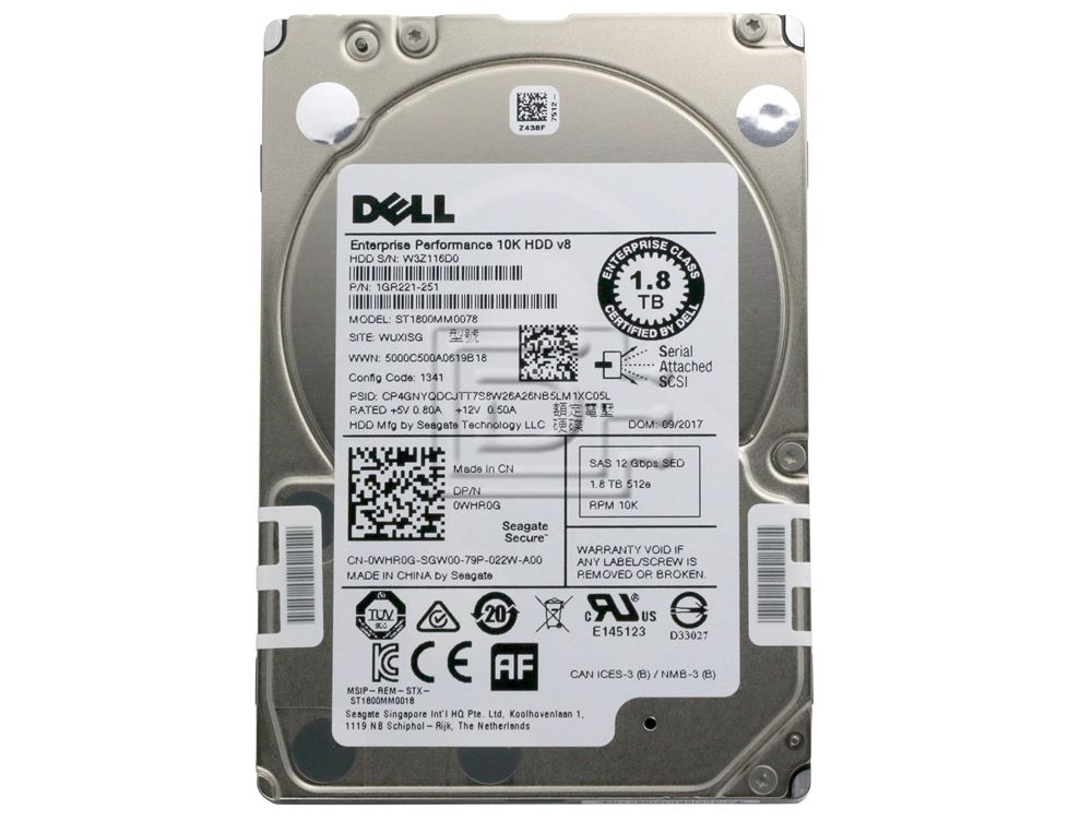ST1800MM0068 SEAGATE 1.8TB 10K 12GBPS SAS 2.5/'/' HARD DRIVE