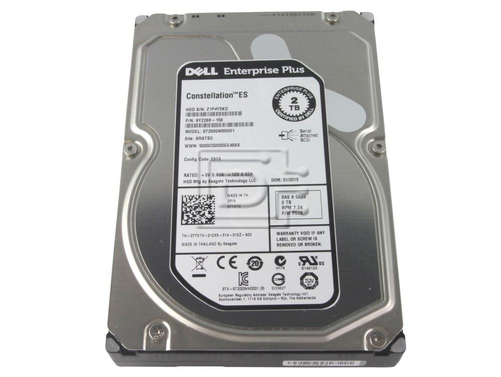 Seagate ST2000NM0001 7WV9W 07WV9W 7YXTH 07YXTH 9YZ268-158 Dell Enterprise Plus SAS Hard Drive image 1
