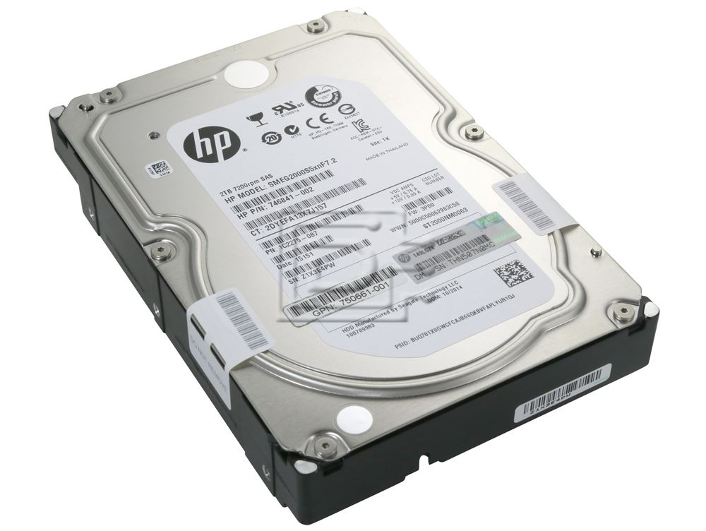Seagate ST2000NM0063 746841-002 750661-001 1C2275-087 SMEG2000S5xnF7.2 602119-001 SAS Hard Drive image 1