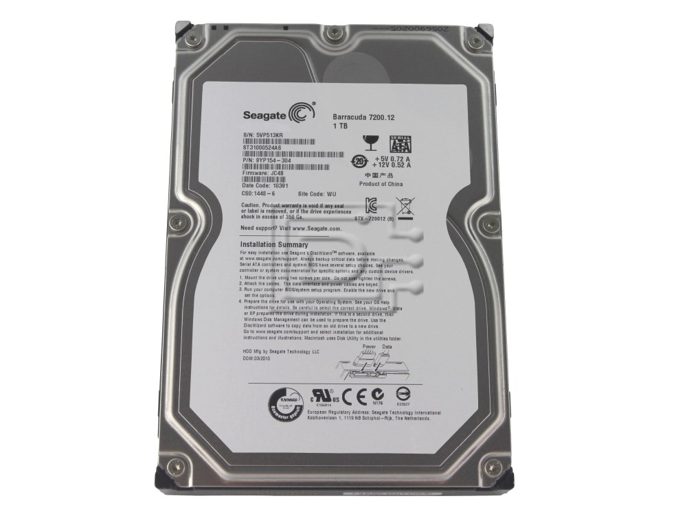Seagate ST31000524AS SATA Hard Drive image 1