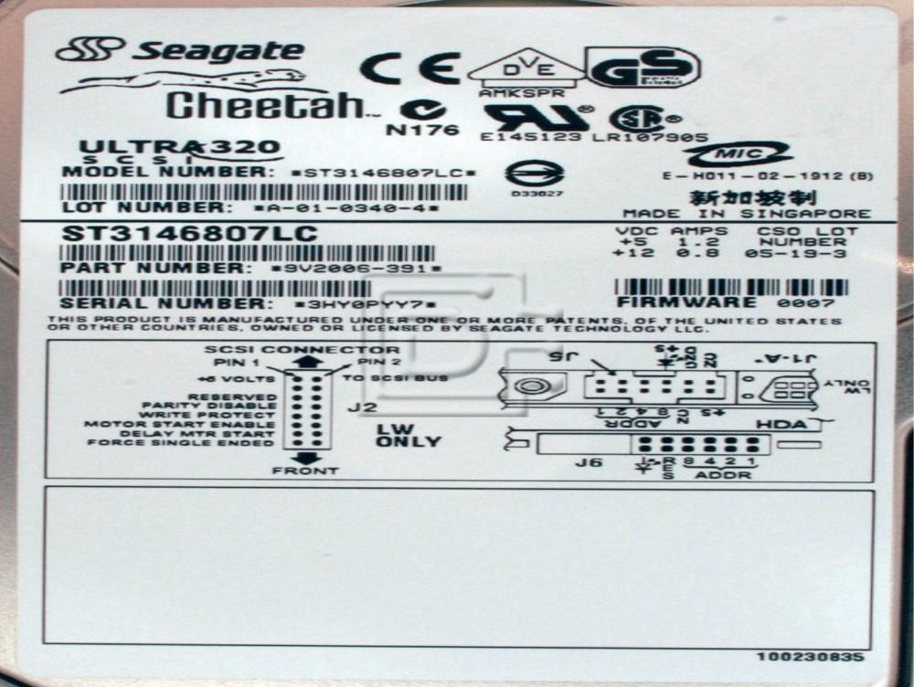 SEAGATE ST3146807LC 10K U320 SCSI HARD DRIVE