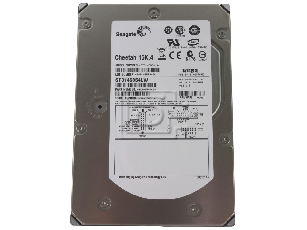 Seagate ST3146854LW SCSI Hard Drive image 1