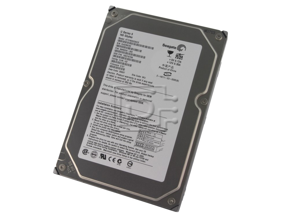 "Seagate ST3160022ACE 3.5"" IDE Hard Drive image 1"