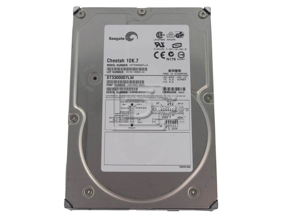 Seagate ST3300007LW SCSI Hard Drive image 1
