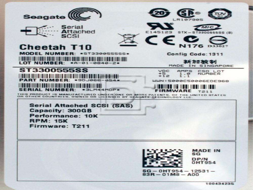 Seagate ST3300555SS KC706 0KC706 0FW956 FW956 0JW552 JW552 0HT954 HT954 SG-0FW956-12531-747-VRBS SG-0JW552-12531-722-HTMB GM251 0GM251 SAS Hard Drives image 2