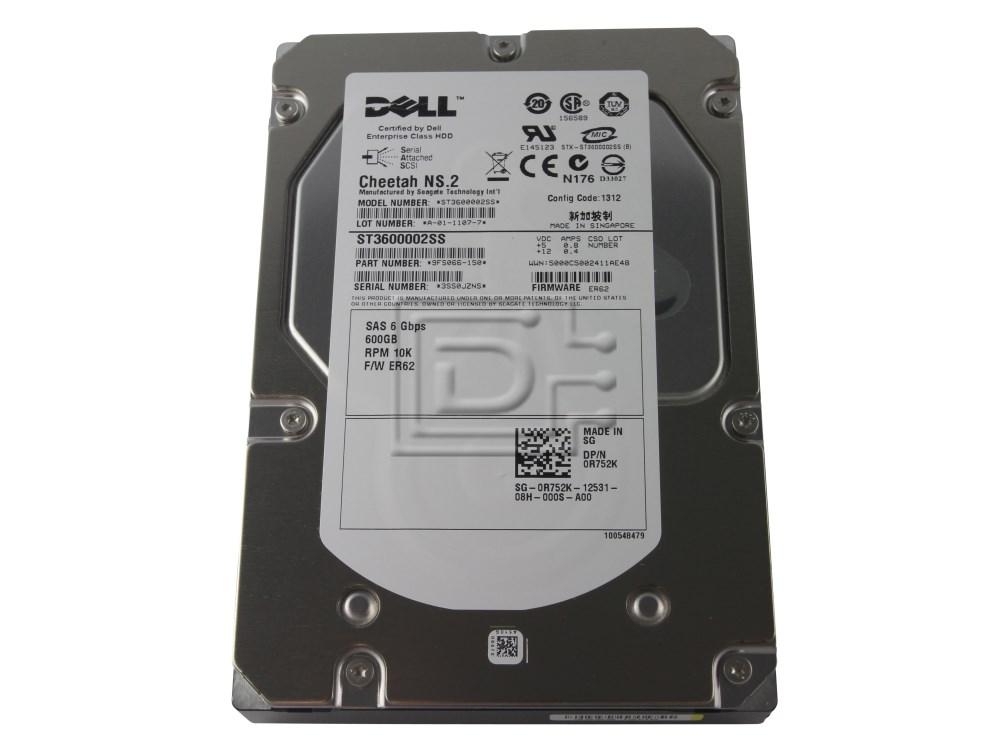 Seagate ST3600002SS 0K054N K054N R752K 0R752K SAS Hard Drives image 1