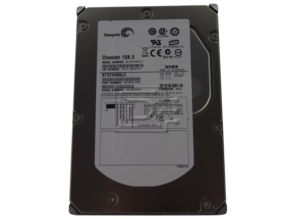 Seagate ST373455LC 9Z3006-002 SCSI Hard Drive image 1