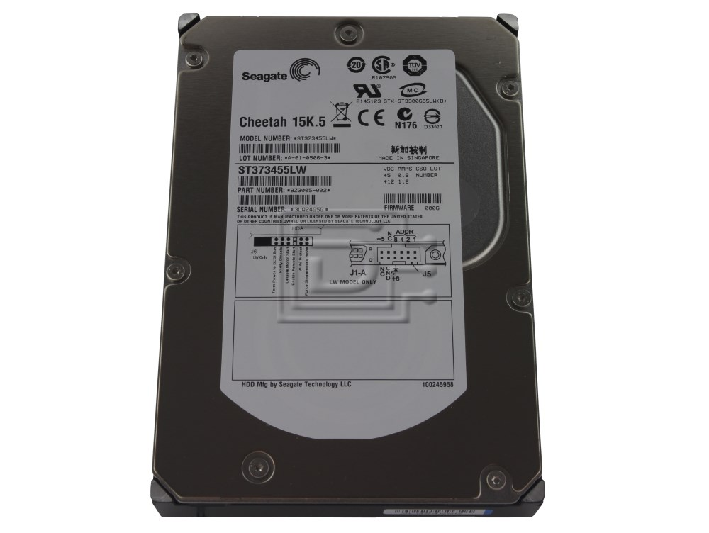 Seagate ST373455LW 9Z3005-044 SCSI Hard Drive image 1