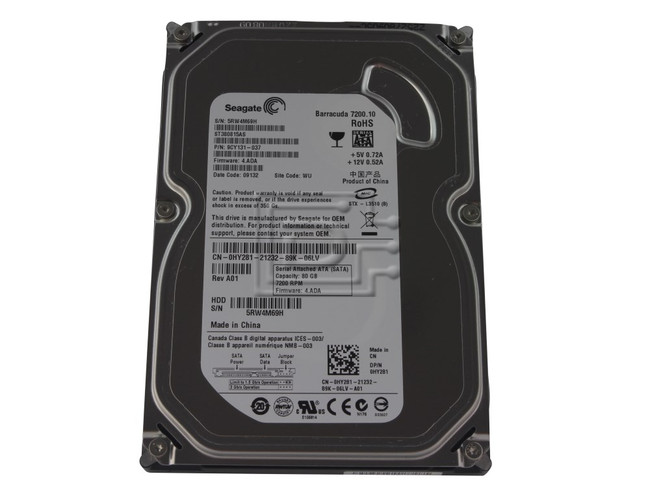 Seagate ST380815AS HY281 0HY281 SATA Hard Drive image 1