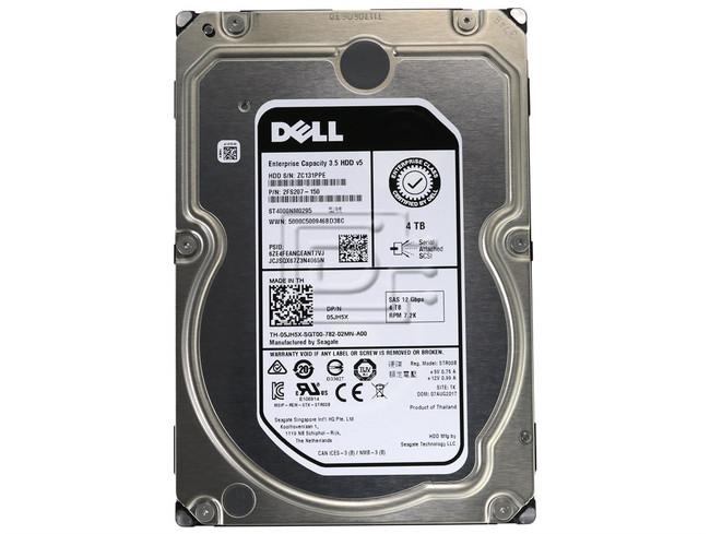 Seagate ST4000NM0295 2FS207-150 5JH5X 05JH5X SAS Hard Drive image 2