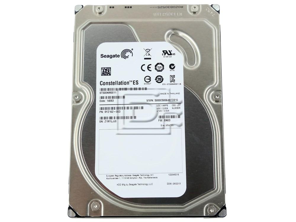 Seagate ST500NM0011 C3YJM 0C3YJM 9YZ162-036 SATA Hard Drive image 1