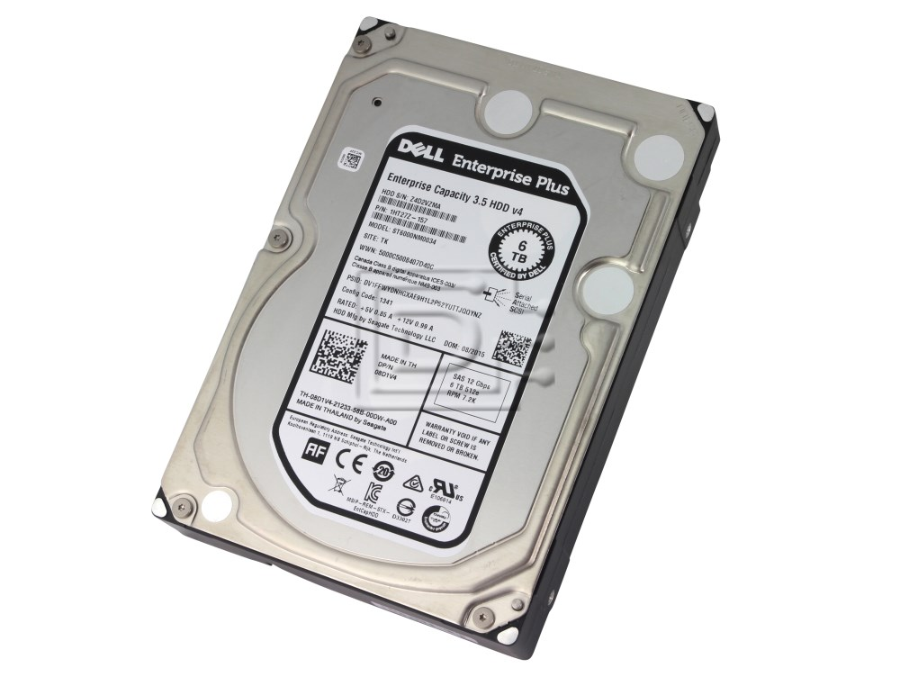 "Seagate Enterprise 3.5/"" HDD v4 6TB 7200RPM ST6000NM0034 SAS Hard Drive"