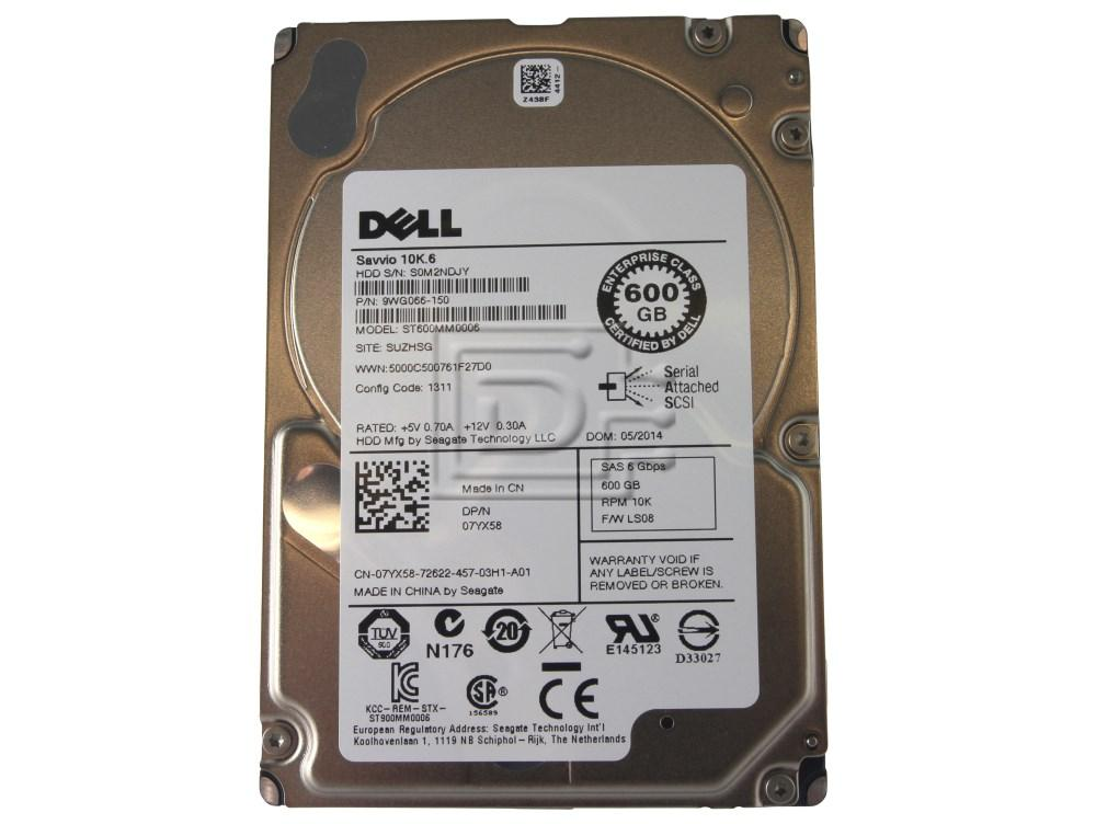 Seagate ST600MM0006 7YX58 07YX58 9WG066-150 600GB Seagate SAS Hard Drives 10K SFF image 1