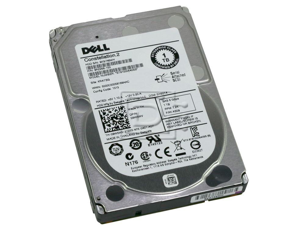 Seagate ST91000640SS 9RZ268-080 9RZ268-150 09W5WV 9W5WV TH-09W5WV-21233-18H-01LS-A02 VT8NC 0VT8NC SAS Hard Drive image 1