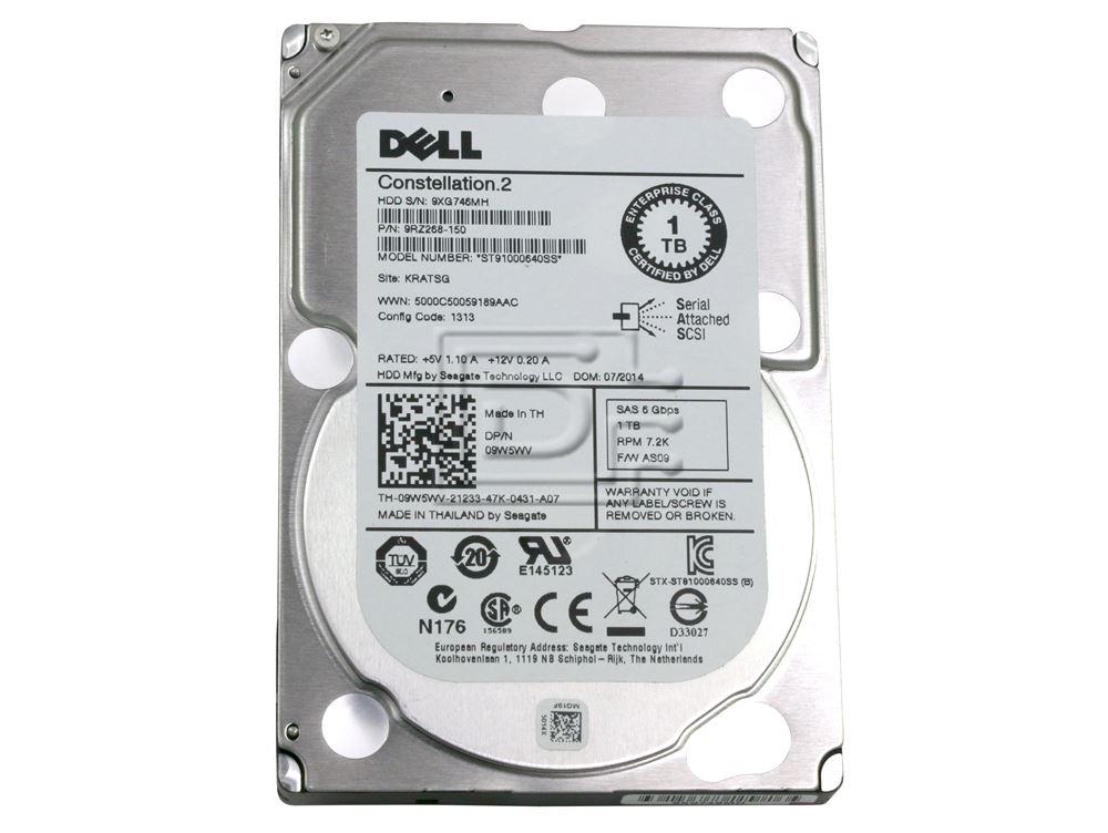 Seagate ST91000640SS 9RZ268-080 9RZ268-150 09W5WV 9W5WV TH-09W5WV-21233-18H-01LS-A02 VT8NC 0VT8NC SAS Hard Drive image 2
