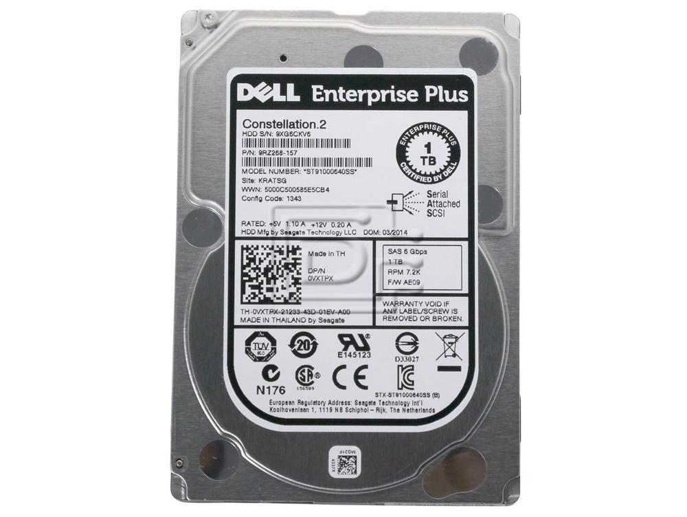 "ST91000640SS SEAGATE 1TB 7.2K SAS 2.5/"" 6Gb//s 64MB HDD CONSTELLATION.2"